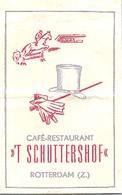 "Rotterdam,   Café Restaurant "" 't Schuttershof ""  (suikerzakje) - Suiker"