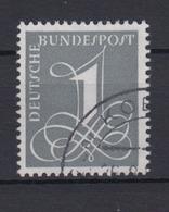Bund 285 X Ziffernzeichnung 1 Pf Gestempelt - [7] West-Duitsland