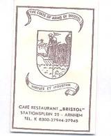 "Arnhem, Stationsplein,  Café Restaurant "" Bristol ""  (suikerzakje) - Suiker"