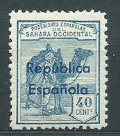 Sahara Variedades 1932 Edifil 42Bhcc ** Mnh  Cabmio De Color En La Sobrecarga - Spanish Sahara