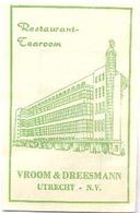 """Utrecht, Restaurant Tearoom  """" Vroom En Dreesmann""""  (suikerzakje) - Suiker"""