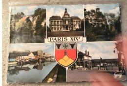 75 Paris 1965 19e 5 Vues Canal De L Ourcq Abattoir ....blason - Multi-vues, Vues Panoramiques