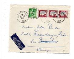 ALGERIE AFFRANCHISSEMENT COMPOSE LETTRE AVION DE ORAN SAINT CHARLES 1962 - Algérie (1924-1962)