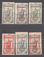 Marruecos Correo 1920 Edifil 68/73 (*) Mng P�lizas Perforadas - Spanish Morocco