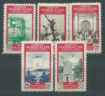 Marruecos Correo 1949 Edifil 325/9 ** Mnh - Spanish Morocco