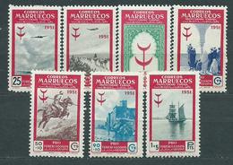Marruecos Correo 1951 Edifil 336/42 * Mh - Spanish Morocco