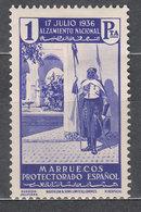 Marruecos Sueltos 1937 Edifil 180 * Mh - Spanish Morocco