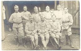 Cpa Carte-photo Militaire , Soldats, écrite De Cherbourg - Personnages