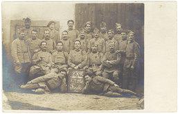 Cpa Carte-photo Militaire , Soldats, 2e R.A.C. E.M. 1er Gr Finale, écrite Vers Charmes ( Ardèche ) - Personnages