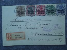 Postgebiet Oberbefehlshaber Ost , WILNA Und KOWNO . - Occupation 1914-18