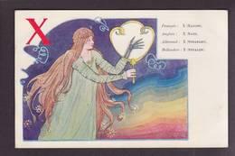 CPA Art Nouveau Circulé Femme Girl Women - Donne