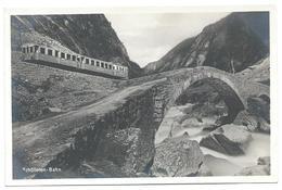 Schöllenenbahn Elektrische Bahn Crémaillière Zahnradbahn Cog Railway Bergbahn Eisenbahn Train Andermatt Göschenen 1950er - UR Uri