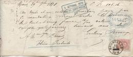 REF85/ TP 34 S/Mandat Daté De Mons 29/sept/1878 D'un Montant 105,16 Fr C.Bruxelles 26 OCTO 1878 - 1869-1883 Leopold II