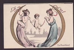 CPA érotisme La Ponctuation Art Nouveau Non Circulé Femme Girl Women - Donne