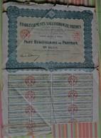 Etablissements Sallandrouze Frères, Société Anonyme, Part Bénéficiaire Au Porteur - Mines