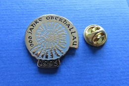 Pin's,escargot,coquille,amonite,Schnecke,900Jahre Oberhallau1995,limité 047/900 - Altri
