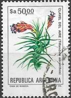 ARGENTINA 1983 Flowers - 50p - Tillandsia Aeranthos FU - Argentina