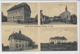 68 NEUWEG .  . Bonjour En 4 Clichés Dont Le Restaurant Ernest Moser , édit : J Küntz Soulz , écrite En 1921 , état Moyen - Other Municipalities