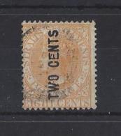 "MALAYA..."" STRAITS SETTLEMENTS.""...QUEEN VICTORIA...(1837-01)...2c ON 8c......SG55......(CAT £130.)...VFU.. - Straits Settlements"