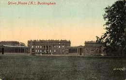 Buckingham Stowe House N Postcard - Buckinghamshire