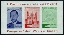 Pro-Europa - Hoja Año 1963 - Ideas Europeas