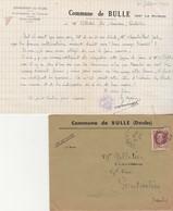 Lettre + Env 1943 / Mairie Bulle Par La Rivière 25 Doubs / Ravitaillement Protestation Bons Usage Travail Cultivatrices - 1939-45