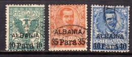 LEVANTE ALBANIA 1902 SOPRASTAMPATO D'ITALIA SERIE COMPLETA ITALY SURCHARGED COMPLETE SET USATA USED OBLITERE' - 11. Oficina De Extranjeros