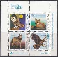 PORTUGAL  Block 30, Postfrisch **, Europäische Artenschutzkampagne: Tiere Aus Dem Zoo Von Lissabon, 1980 - Blocks & Kleinbögen