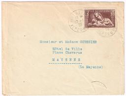 356 Au Profit De La Société Et Prophylaxie Sanitaire Et Morale Obl Manuelle Du 17/01/1938 - Postmark Collection (Covers)