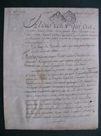 1781 Manuscrit Sur Vélin Généralité Alençon Normandie Bellou Sur Huisne  Remalard Belle Calligraphie - Manuscrits