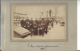 "CROISEUR "" CHÂTEAURENAULT "" ( 1868 - 1892 ) L'Etat - Major 1888 , Phot. J. Danielsen Gothersgade Kjobenhavn - Anciennes (Av. 1900)"