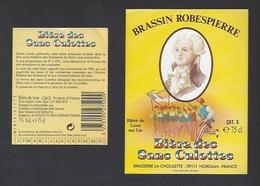 Etiquette De  Bière -  Des Sans Culottes  -  Brasserie La Choulette  à  Hordain (59) - Thème Bicentenaire - Beer