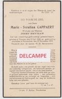 DOODSPRENTJE CAPPAERT MARIE WEDUWE HEYMAN VRASENE NIEUKERKEN 1856 - 1935  Bewerkt Tegen Kopieren - Images Religieuses