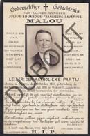 Doodsprentje - Julius Malou °1810 Ieper †1886 St Lambrechts Woluwe - Minister Van Staat, Senator  (G411) - Décès