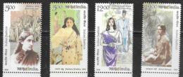 INDIA, 2019, MNH, FASHION, CLOTHES, SARIS, 4v - Cultures