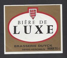 Etiquette De  Bière De Luxe  -  Brasserie Duyck  à  Hergnies  (59) - Beer