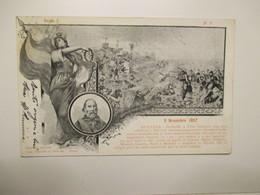 GARIBALDI 1900 3 Novembre 1857 Battaglia Mentana Tipo Lito Fiori Pistoia - Geschiedenis