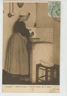 """FEMMES - FRAU - LADY - TABLEAUX - SALON DE 1906 - """"Coin De Cuisine """" , Par C. BOIRY - Donne"""