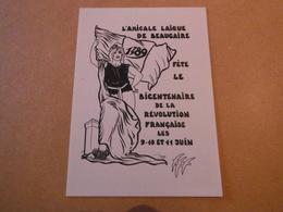 Cpm De Collection  BEAUCAIRE 1989.-bicentenaire De La Revolution - Lardie