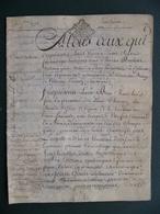 1772 Manuscrit Sur Vélin Généralité Alençon Normandie  Saint Quentin Le Petit  Jean GOUIN Très  Belle Calligraphie - Manuscrits