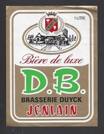 Etiquette De  Bière De Luxe  -  DB  -  Brasserie Duyck  à  Jenlain  (59) - Beer