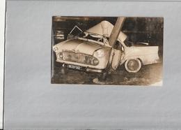 Photo Originale 11 X 18 Cm, Voiture Ancienne Accident à DOULLENS - Coches