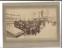 "CROISEUR "" CHÂTEAURENAULT "" ( 1868 - 1892 ) L'Etat - Major 1888 , Phot. J. Danielsen  Kjobenhavn Cadre Massicoté - Anciennes (Av. 1900)"