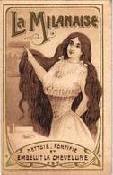7 Cards La Milanaise  Contre Les Poux Lentes  Chevelure  Anti Lice Luizen RECLAME Advertising Illustr.Noval - Sonstige