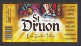 Etiquette De  Bière Blonde  -  Saint Druon  -  Brasserie Duyck  à Jenlain  (59) - Beer
