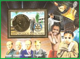 Tchad Bf 236A Rotary, Education, Tableau, Black Board , Or ,  Livre - Rotary, Lions Club