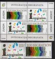 2006 Bosnia Mostar (Croatian Administration) Europa CEPT  Integration MS And Strip Of 2 V MNH** MI B 8+ 171/172 - Europa-CEPT