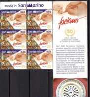 2012 San Marino Made In San Marino Ceramica Faetano 50 Years 6 V With Sheet Coupon Of 1v - Paper MNH** MI 2512 Porcelan, - San Marino