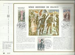 N° 214 DU CATALOGUE CEF . SERIE HISTOIRE DE FRANCE . 07 OCTOBRE & 11 NOVEMBRE 1972 . PARIS . - FDC