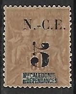 """NOUVELLE-CALEDONIE N°65a N*  Variété Tête Du """"5"""" Cassée - New Caledonia"""